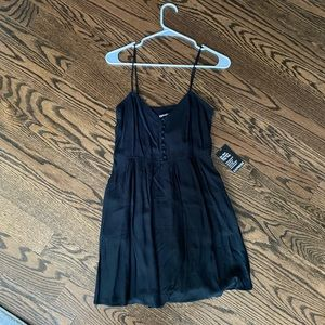 NWT Express Button Front Mini Babydoll Dress